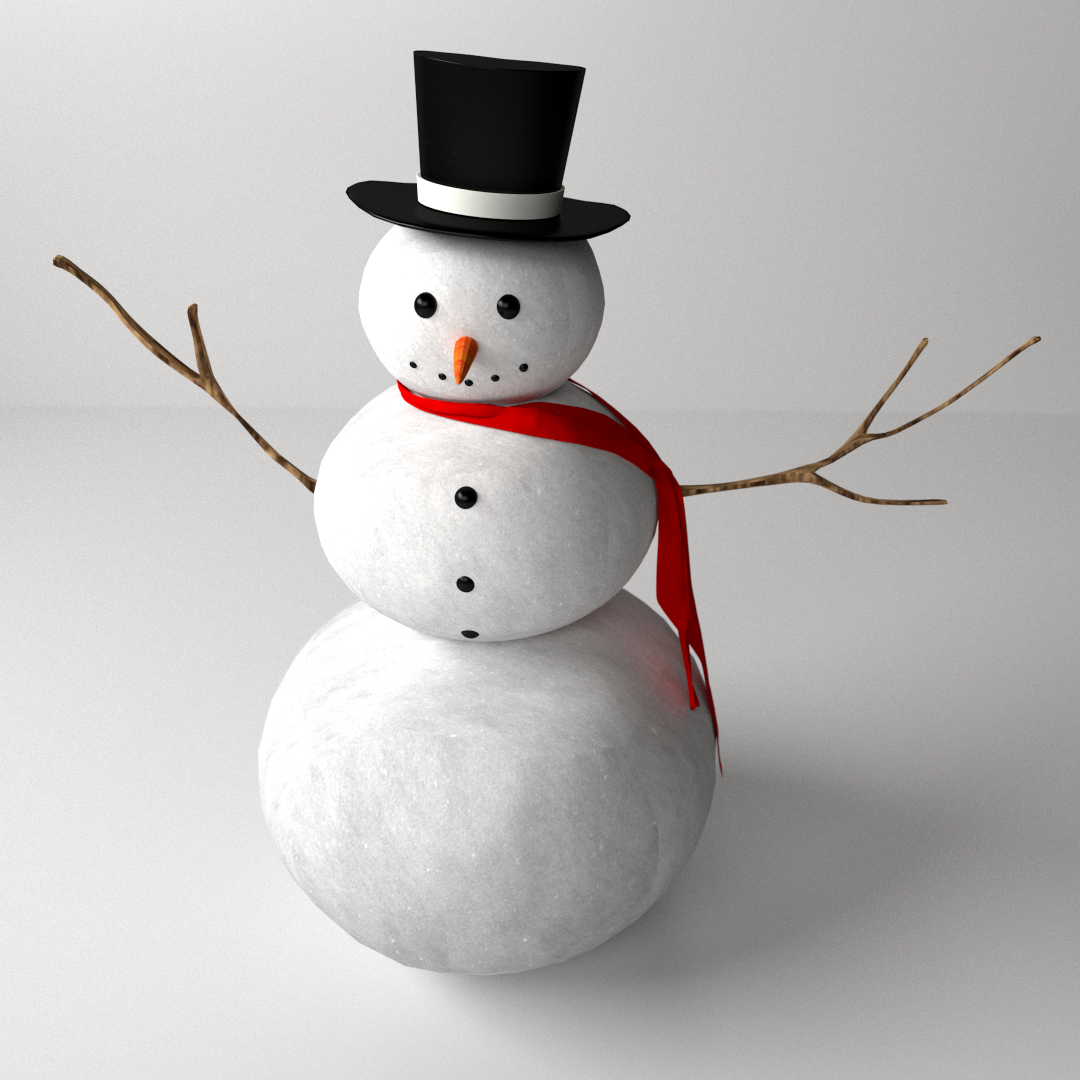 Vector illustration of Christmas Snowman cartoon wearing a Hat and ...