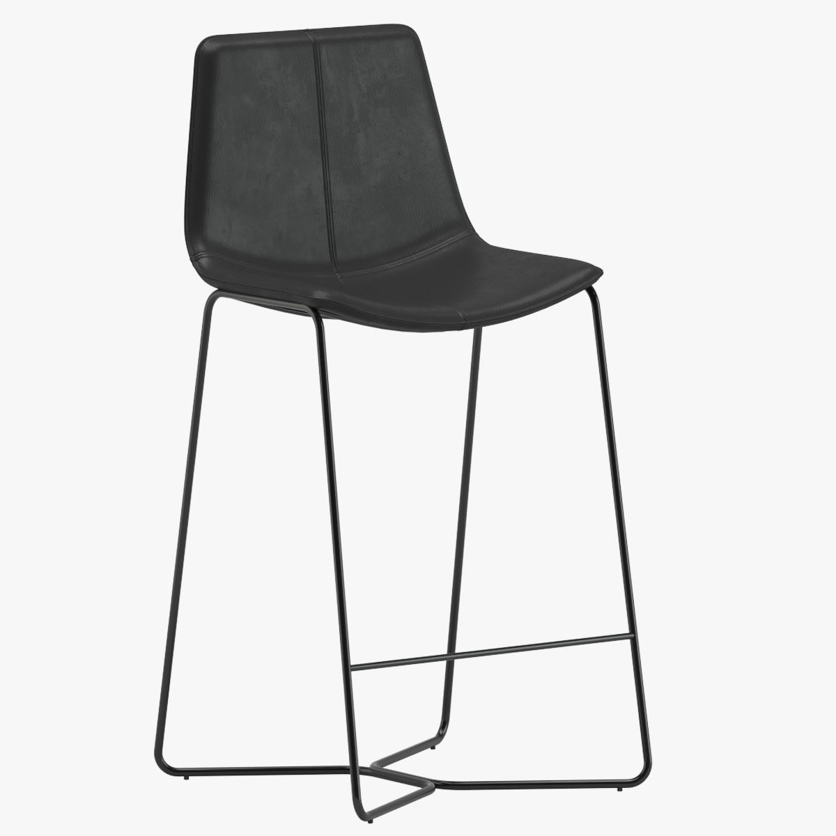 West Elm Slope Leather Bar Stool