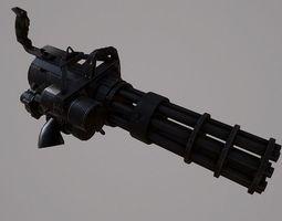 minigun m626 low-poly 3d asset
