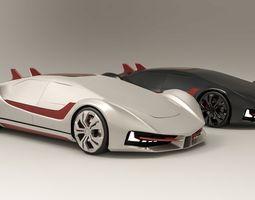 Futuristic super sedan- Excalibur 3D model