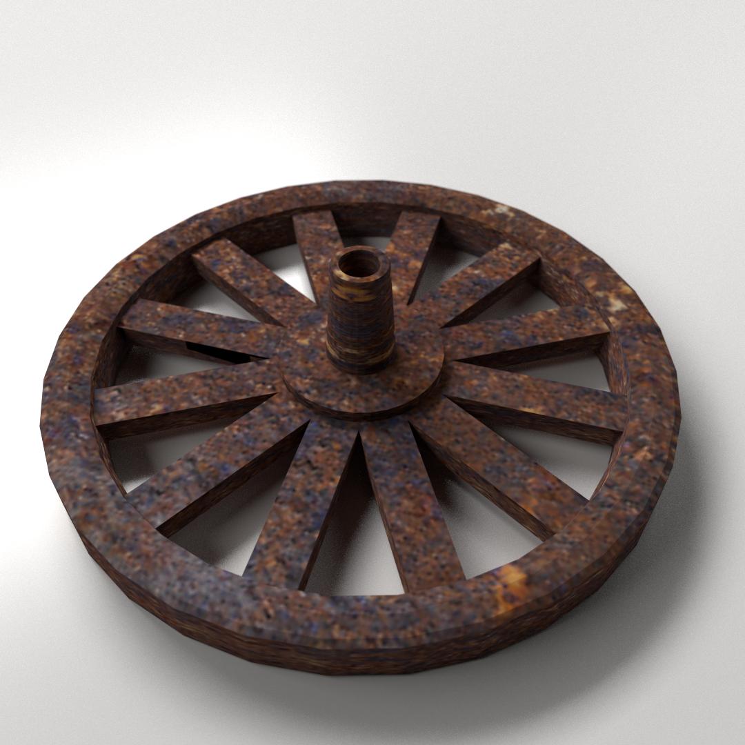 3d old wheel cgtrader old wheel 3d model 3ds fbx blend dae 1 publicscrutiny Choice Image