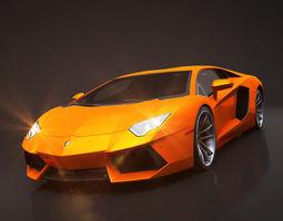 3D model Lamborghini Aventador Rigged C4D