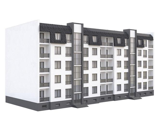 townhouse 2 3d model max obj 3ds fbx mtl 1