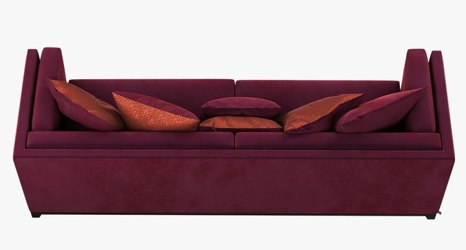 ... Dom Edizioni Albert Red Velvet Sofa 3d Model Max Obj 3ds Fbx Mtl 2 ...