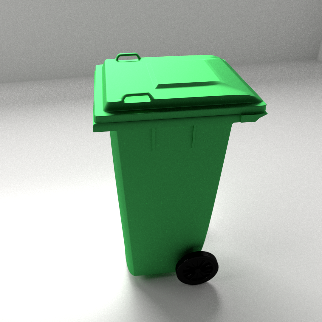 outdoor garbage can 3d model fbx blend 1 - Outdoor Trash Cans