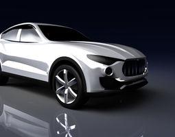 3D model low-poly Maserati Kubang