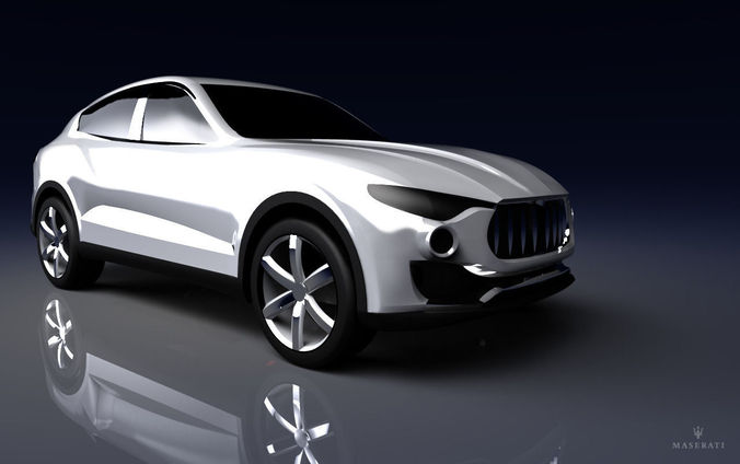 maserati kubang 3d model low-poly obj mtl wire 1