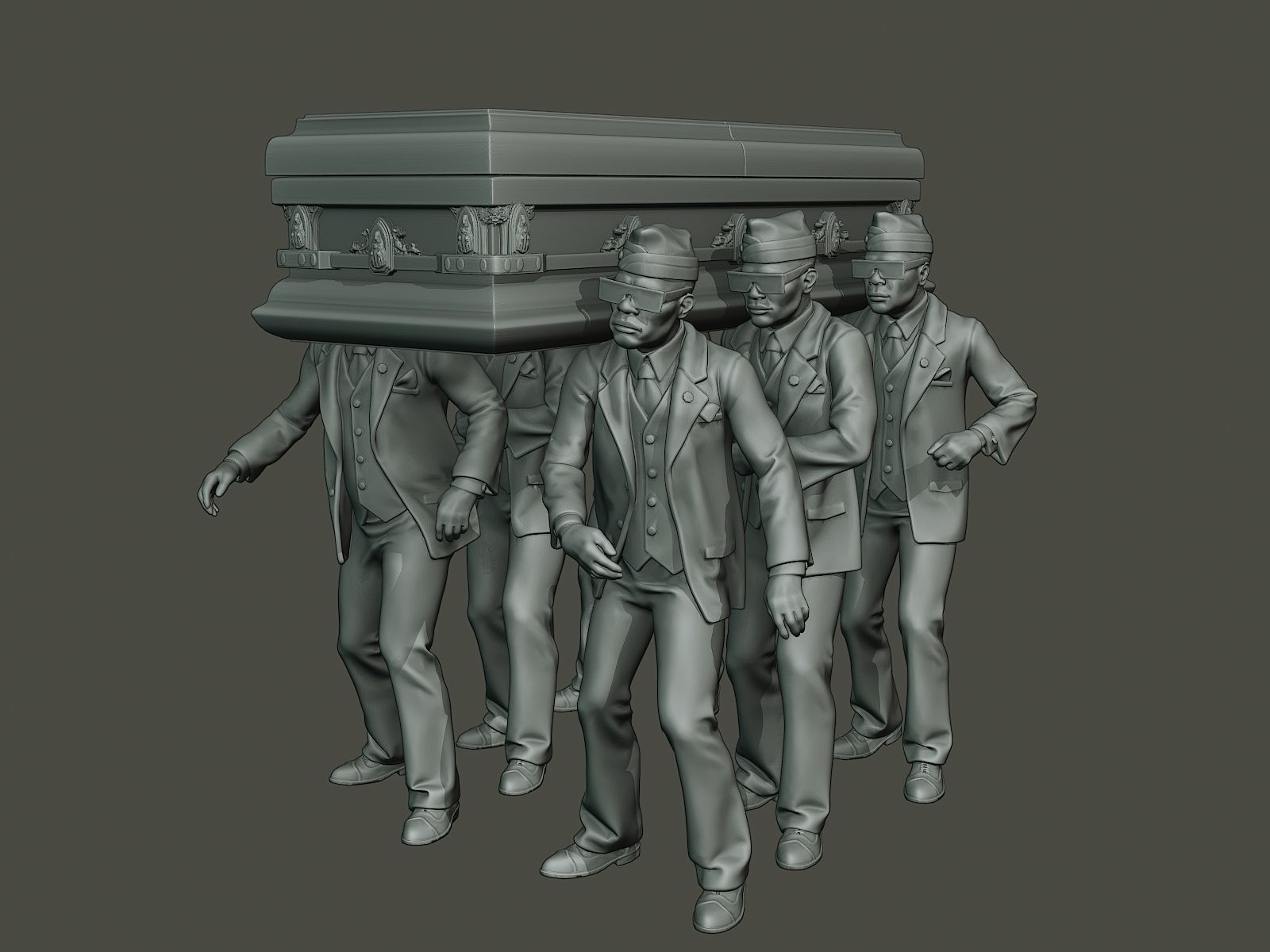 3D printable model Dancing coffin meme | CGTrader