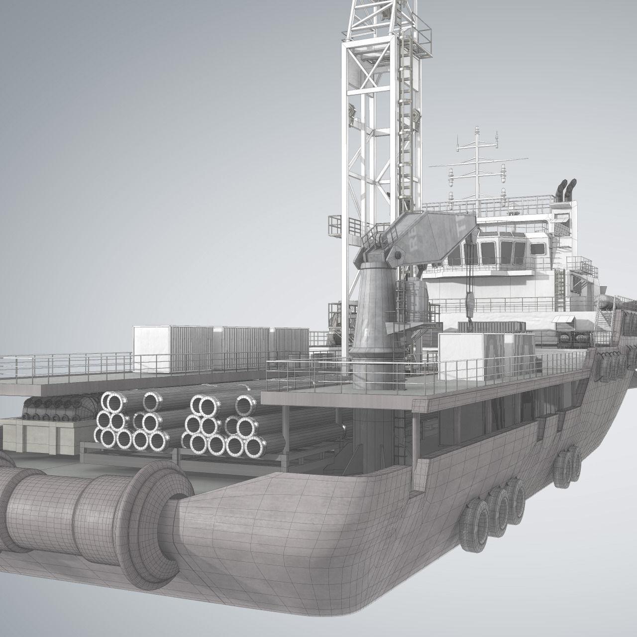 Offshore Supply Vessel 3d Model Obj Fbx Ma Mb Cgtrader Com