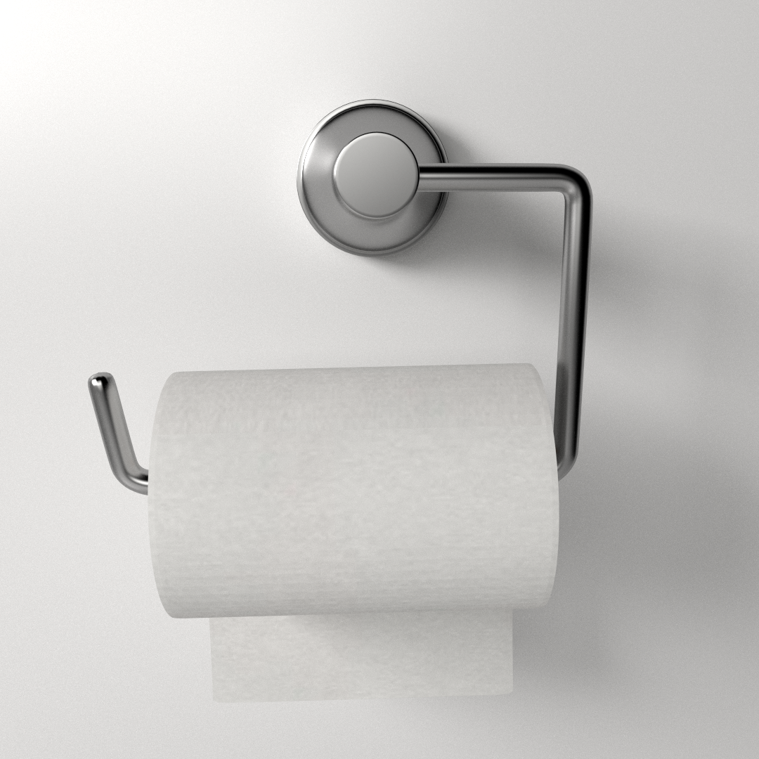 Bathroom Paper Magnificent Toilet Paper Holder 3D  Cgtrader Design Ideas