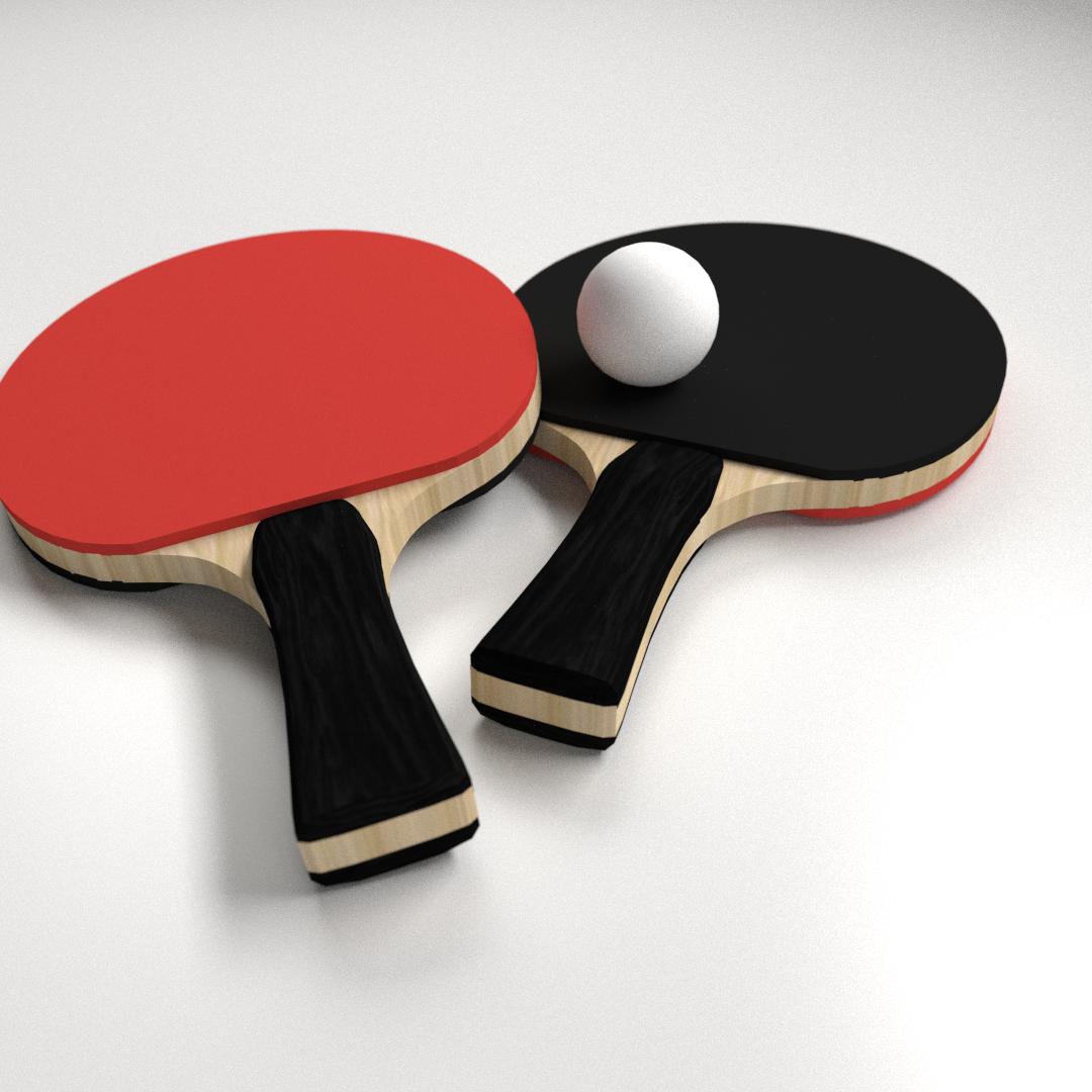 Table Tennis Set 3D | CGTrader