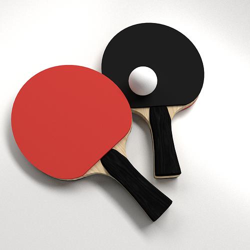 Table Tennis Set 3D | CGTrader