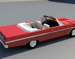 1968 plymouth fury 3 convertible 3D