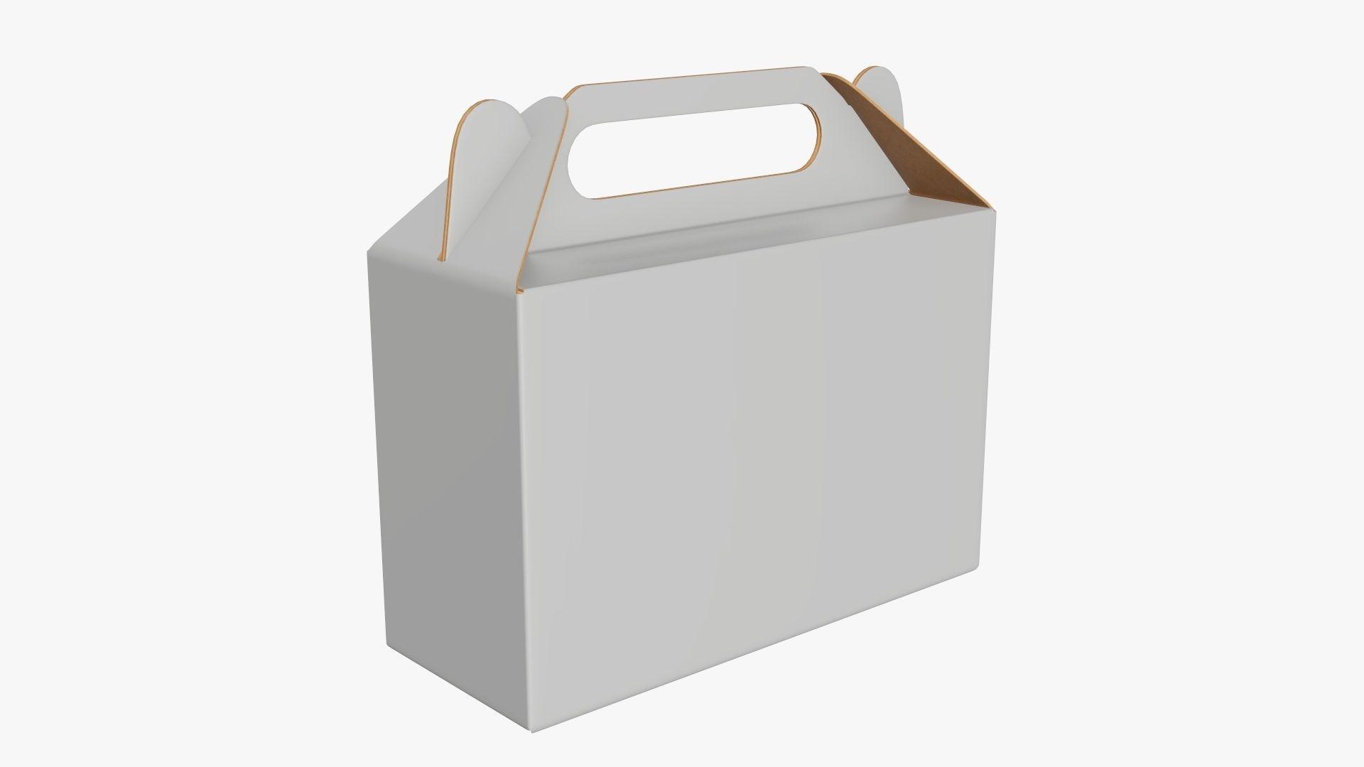 Gable box cardboard food packing 06 white