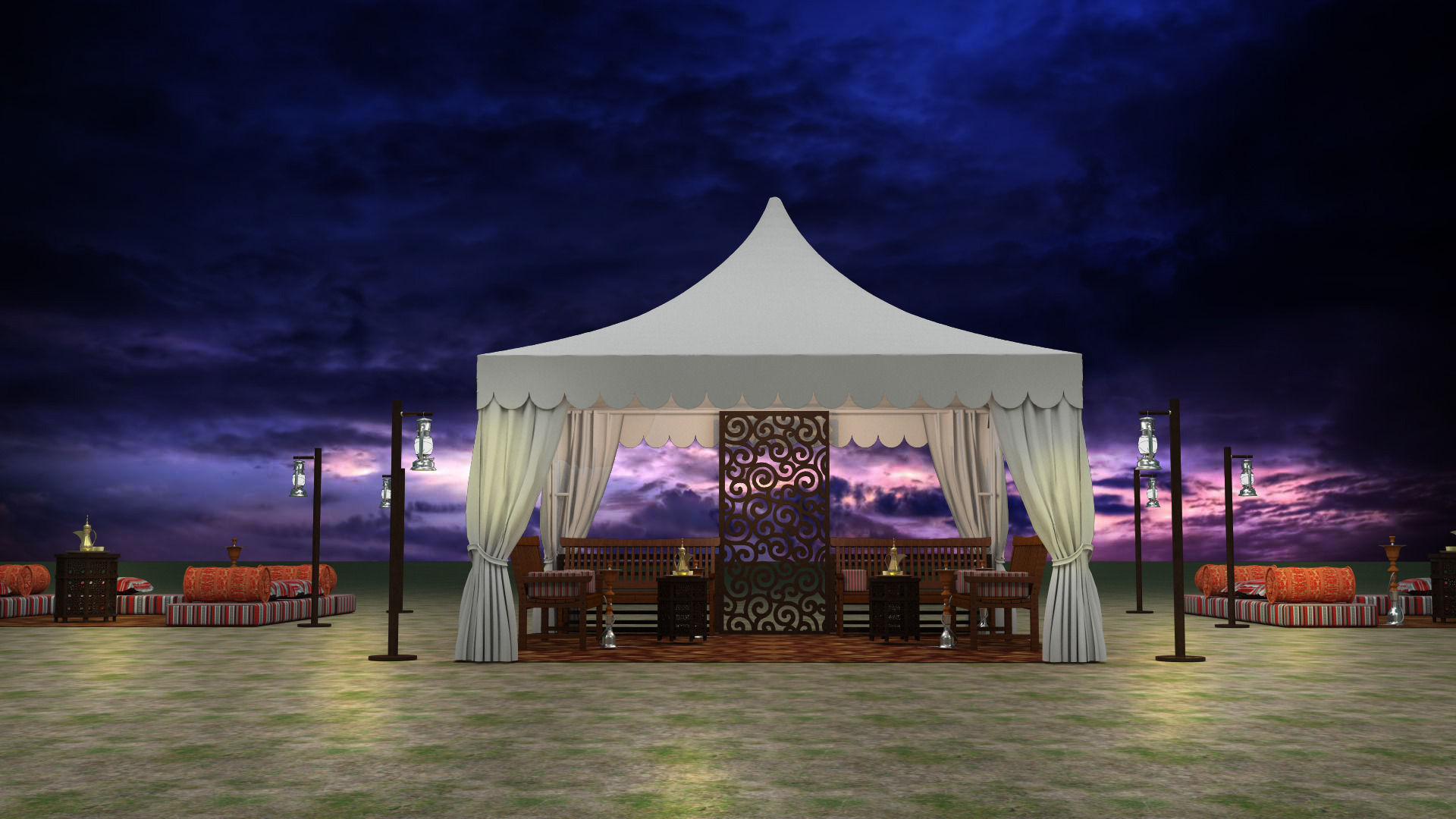 ... event tent arabic 3d model max obj 3ds fbx mtl ... & Event Tent arabic 3D model | CGTrader
