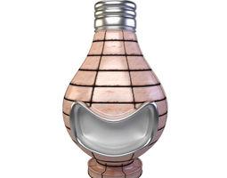 Smiling Light Bulb Figurine -Material Shader Ball 3D