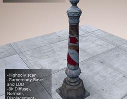 Scanned Street Post 3D model