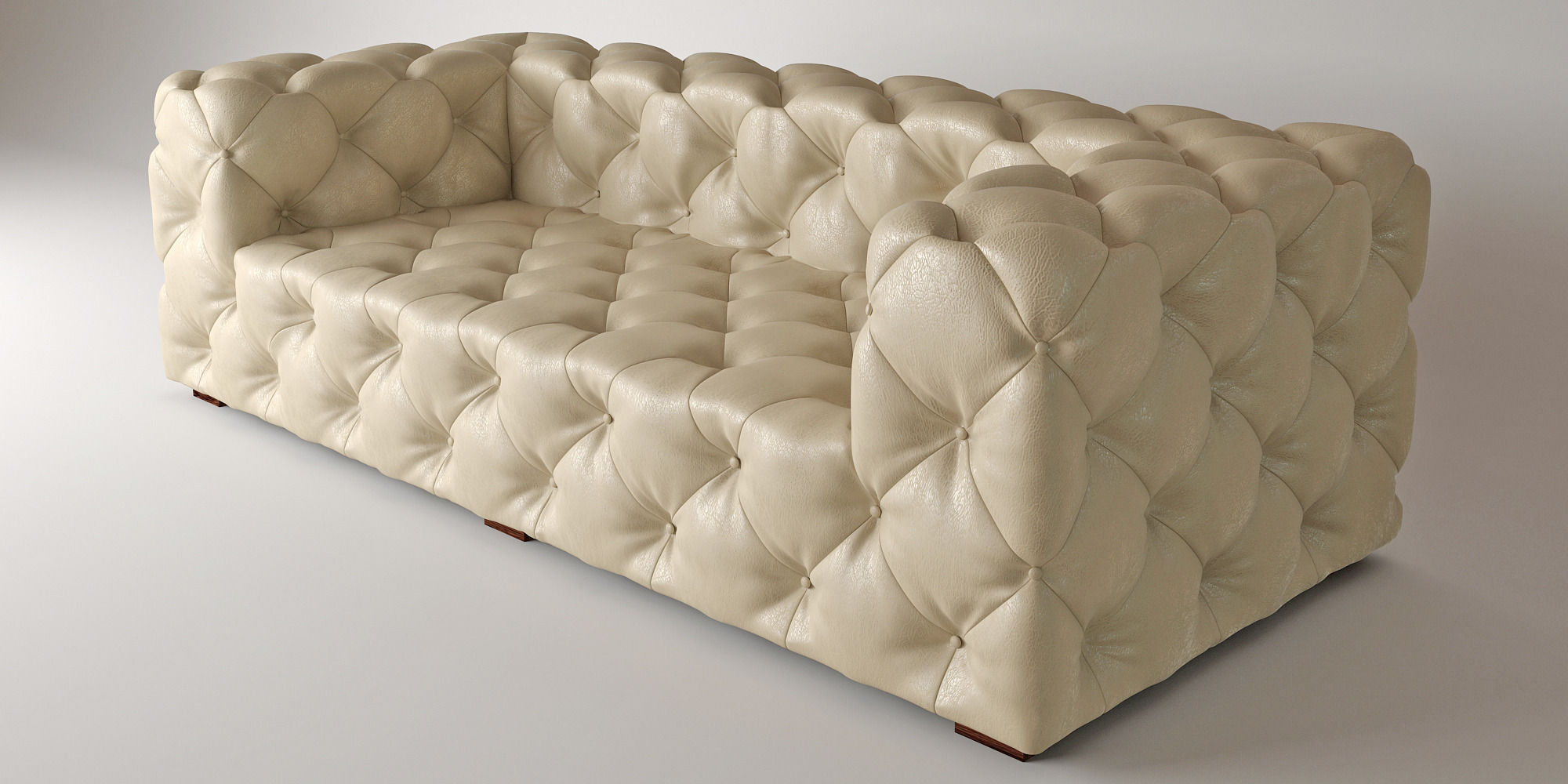 3D model SOHO TUFTED LEATHER SOFA