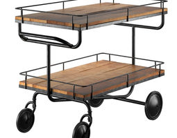 bar trolley restoration hardware 3d model max obj fbx