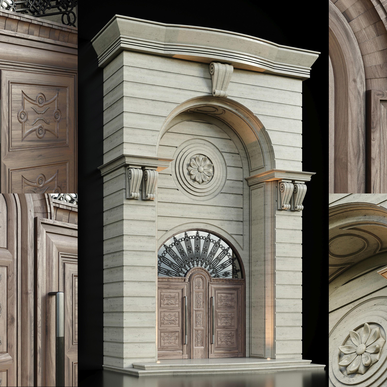 Luxury Entrance Portal - Facade and Door