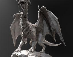 dragon zbrush hd 3d model obj ztl