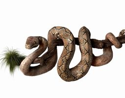 anakonda snake  high poly 3d model
