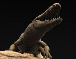 realistic alligator high poly 3d