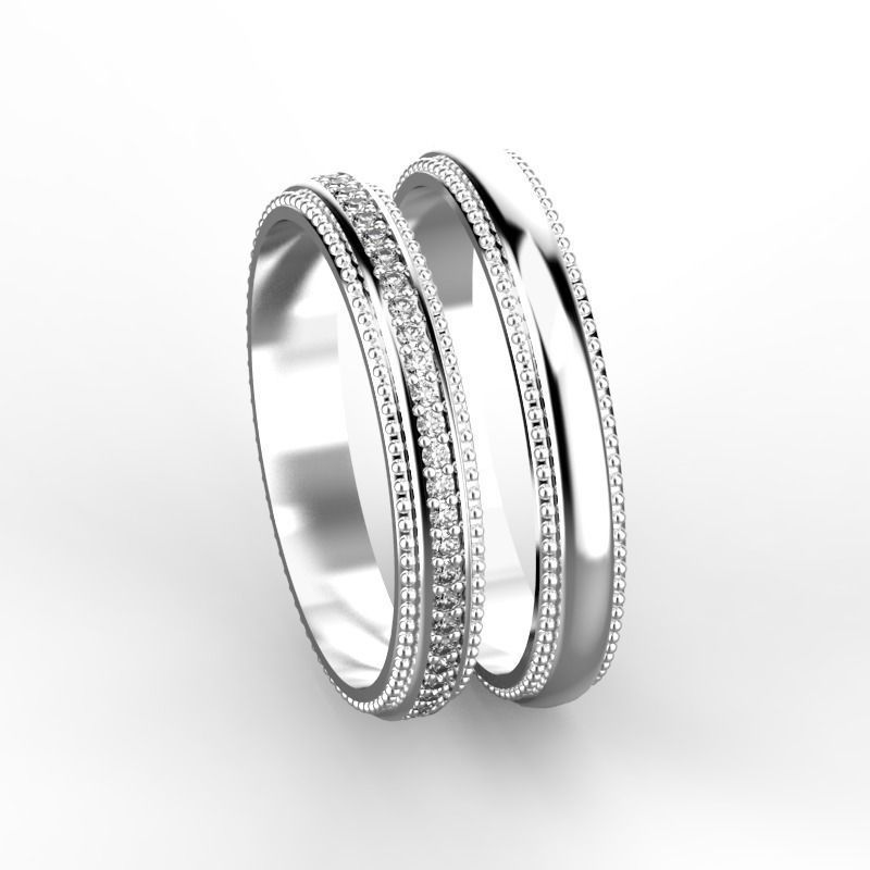 elegant wedding rings 3d model stl 3dm - Elegant Wedding Rings