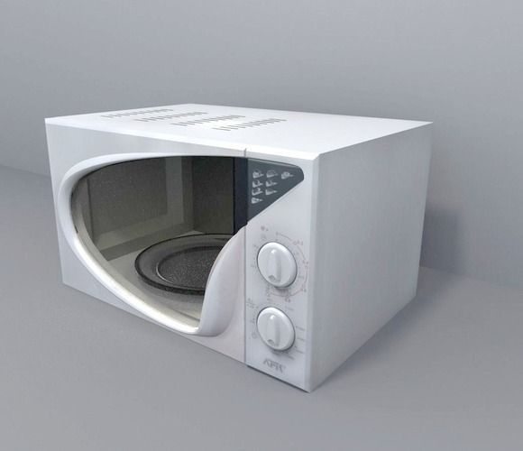 Microwave rigged and animated