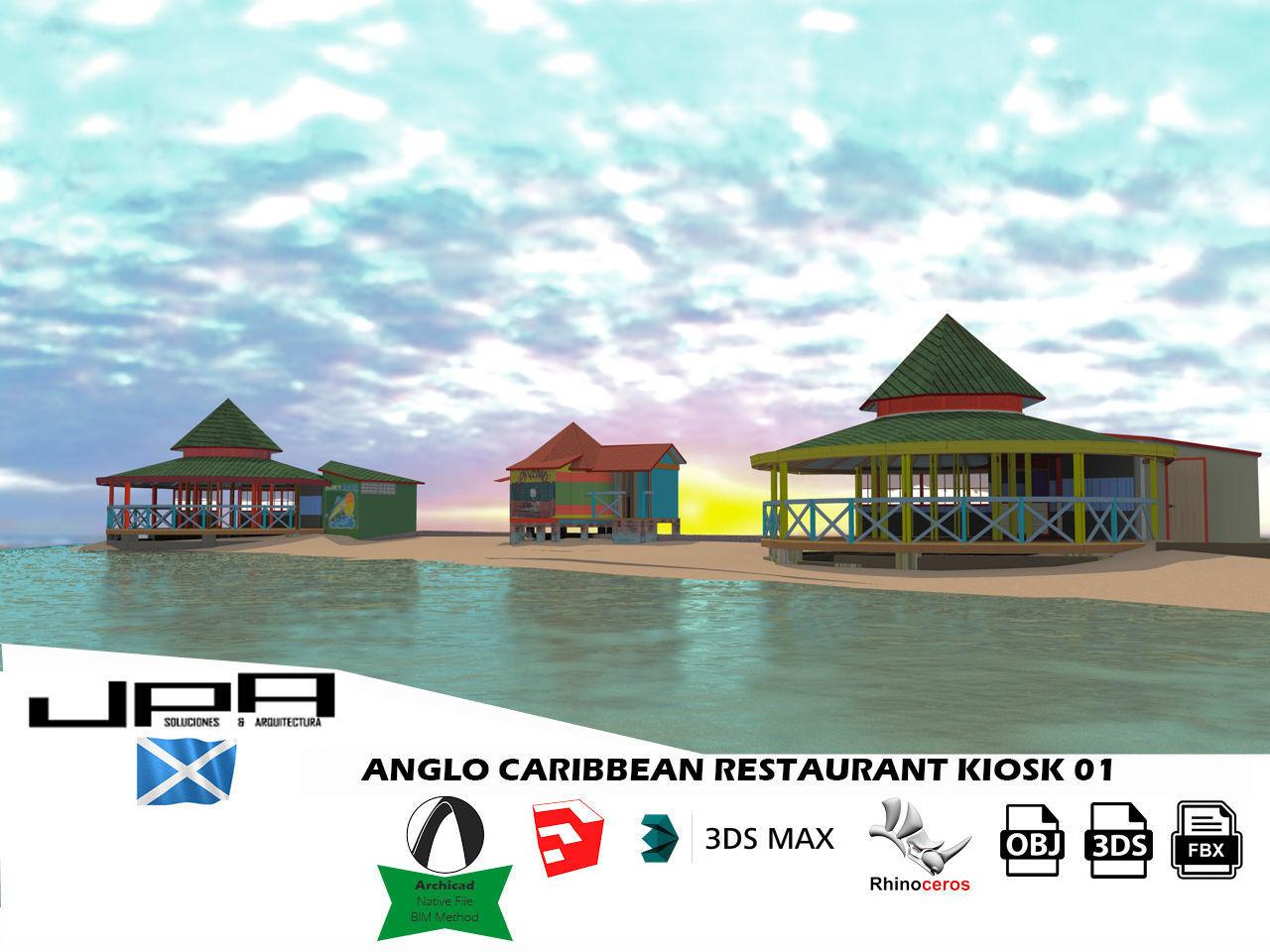 Anglo Caribbean Restaurant Kiosk Landmark