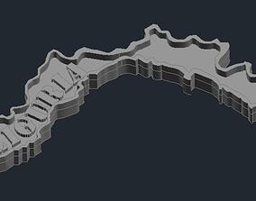 3D print model Regione Liguria