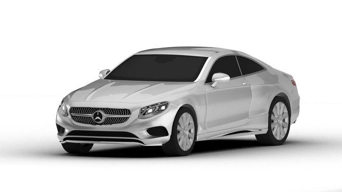 mercedes-benz s class coupe 3d model max obj mtl 3ds fbx stl blend 1