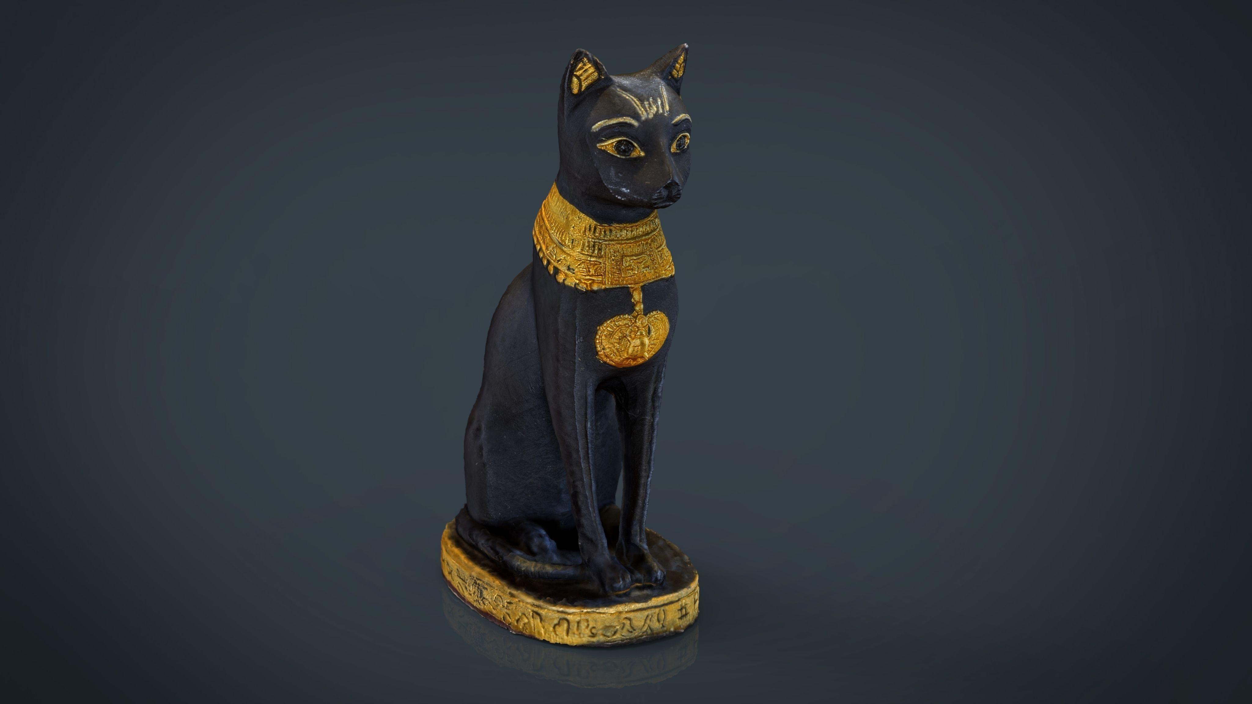 Egyptian Cat 3D Model 3D printable | CGTrader.com