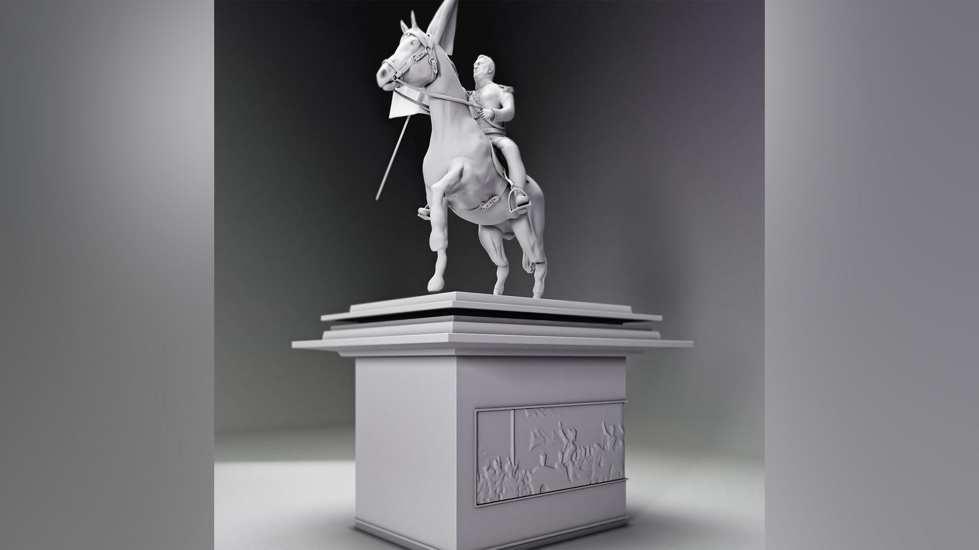 general san martin flag statue