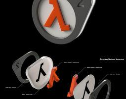 3d print model do-it-yourself half-life 2 logo lightbox