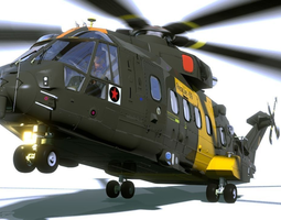 eh 101 helicopter 3d