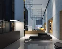 Hall Lobby architectural 3D