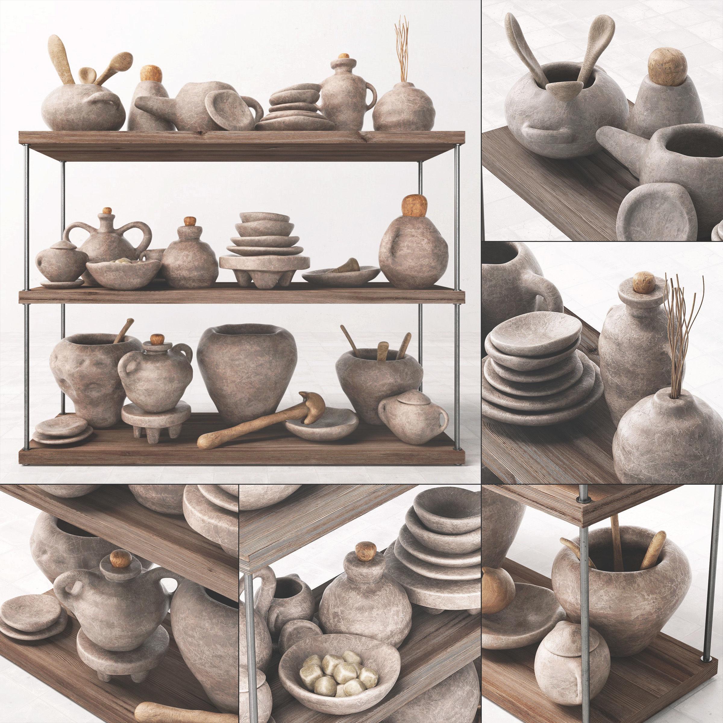 Dishes clay rack n7