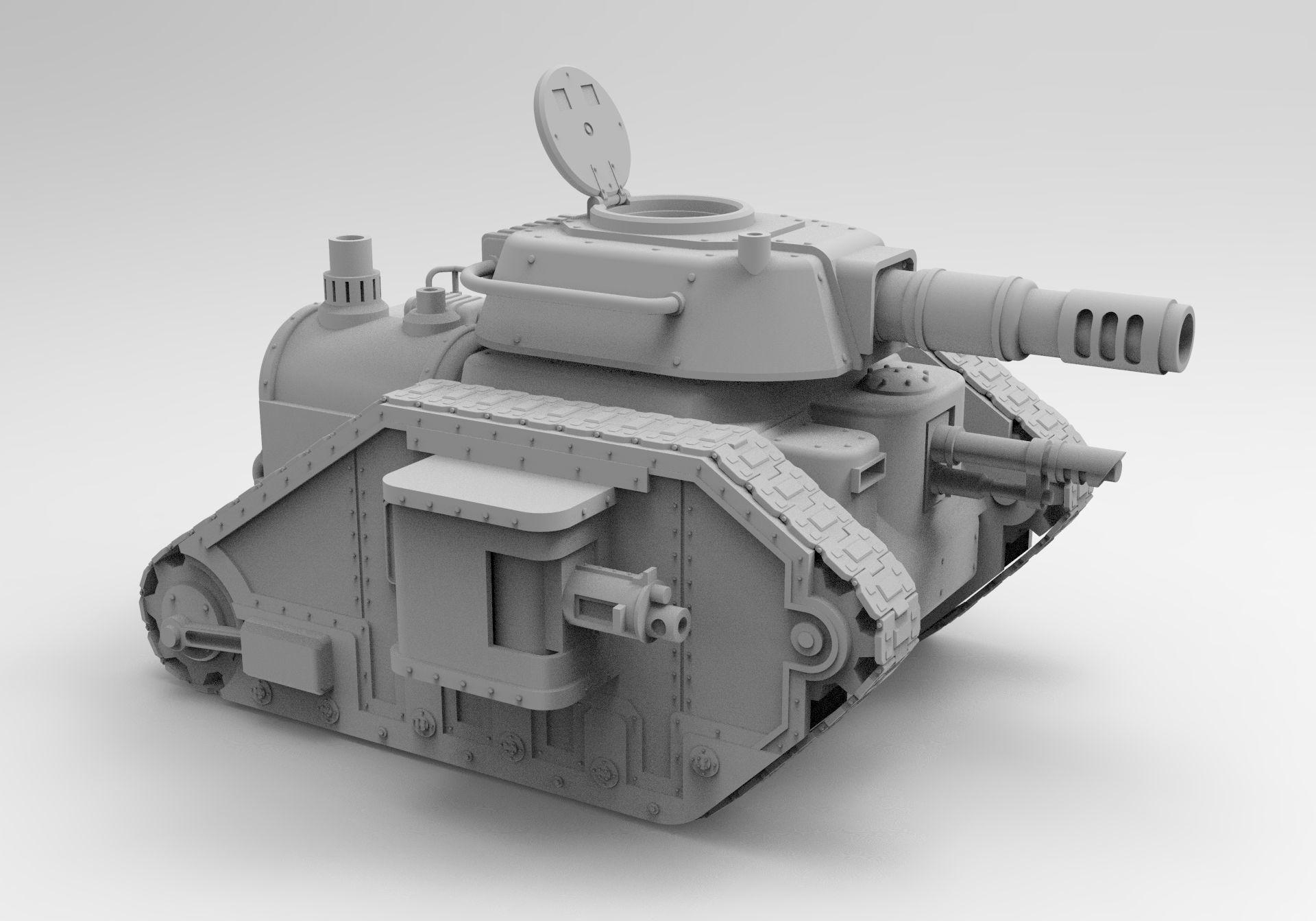 Steampunk Imperial tank