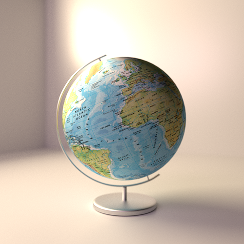 Globe 3d model cgtrader globe 3d model gumiabroncs Choice Image