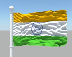 3D Indian Flag 25075