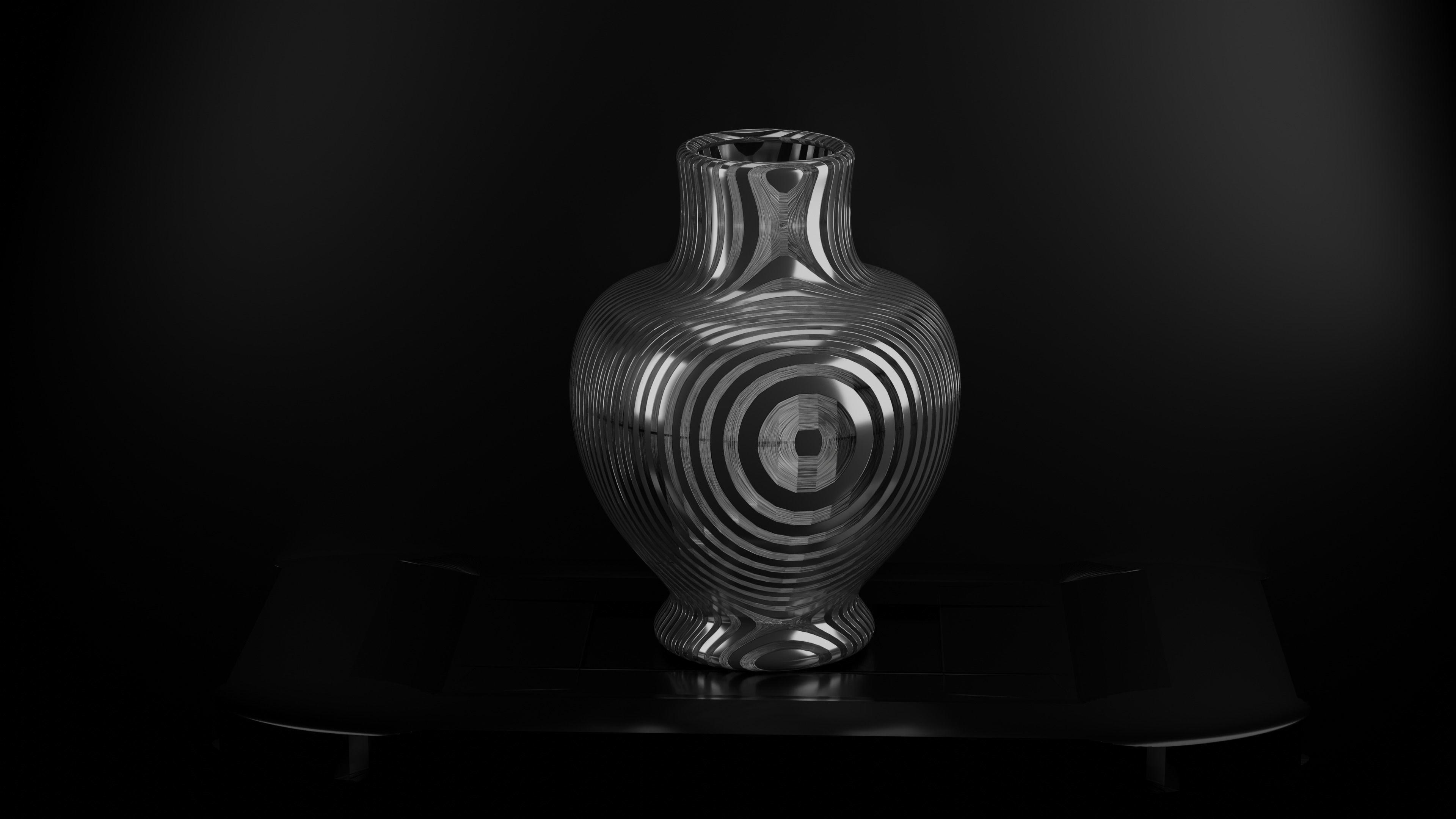 metalic vase