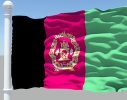 3D Afghanistan Flag