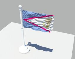 American Samoa Flag 3D model