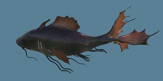 tropical fish - animated - realistic - colorful 3d model rigged animated 3ds fbx blend uasset 1