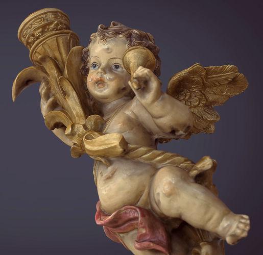 angel figure 3d model low-poly obj 3ds fbx ma mb stl mtl 1