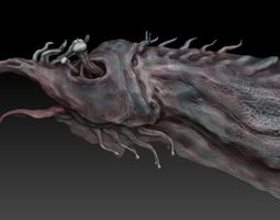 3D model Aquatic Monster or Alien sculpt
