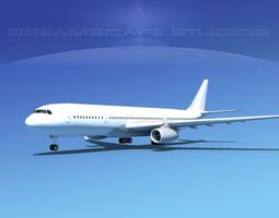 airbus a330-200 lp 3d model rigged