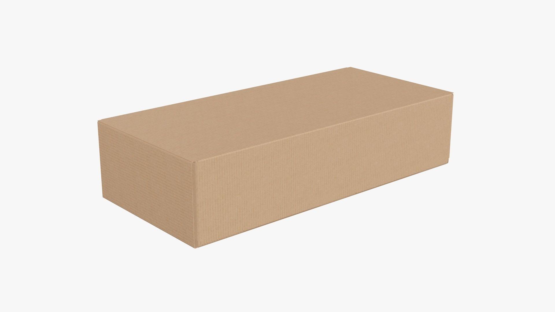 Closed shipping bottle box