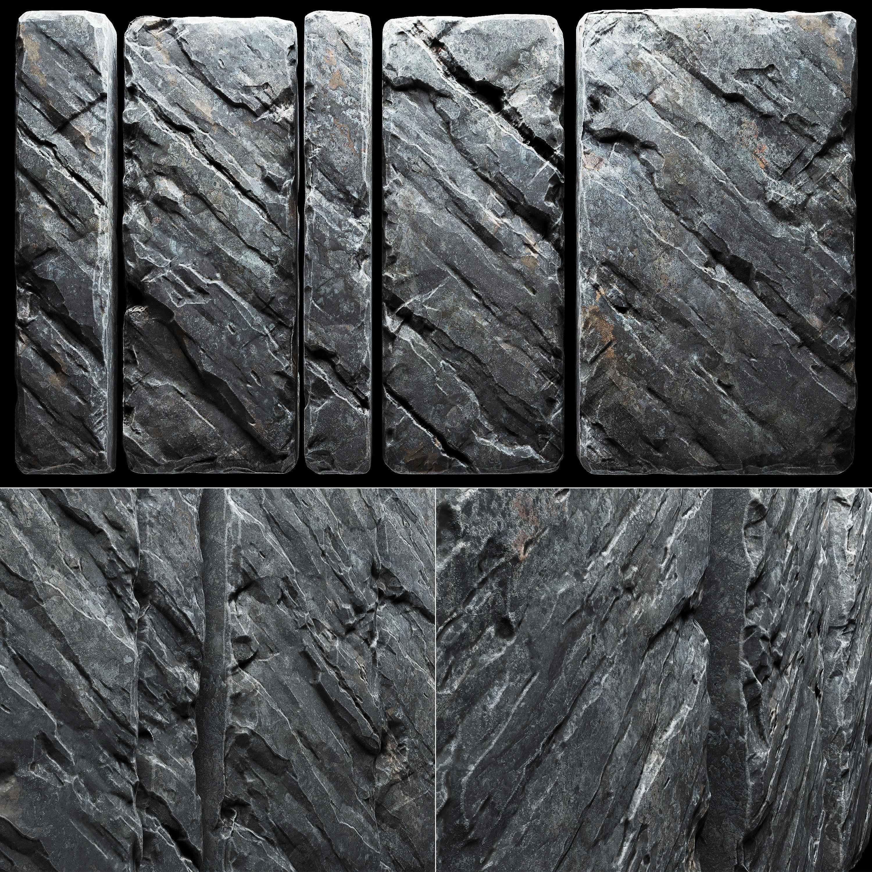 Slab stone wall n3